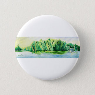 Shrimp Boat 2 Inch Round Button