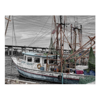 Shrimp Boat at Harbor Postcard