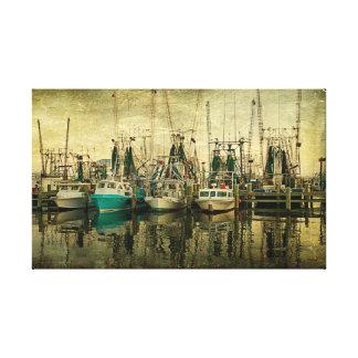 Shrimp Boat Lineup Canvas Print