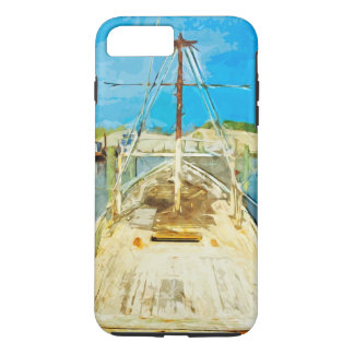 Shrimp Boat Under Repair Abstract Impressionism iPhone 7 Plus Case