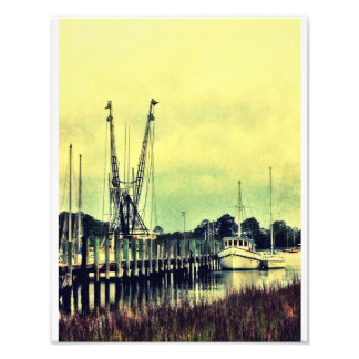 Shrimp Boats Of Wilmington Island Photographic Print