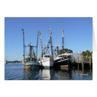 Shrimp Boats--thank you Card