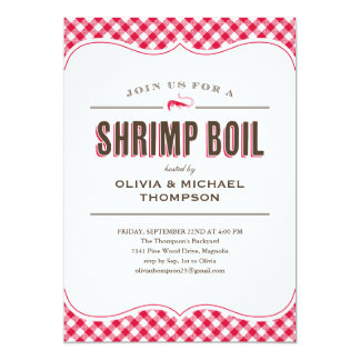 Shrimp Boil Invitations
