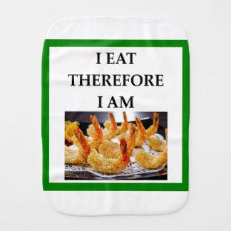 shrimp burp cloth