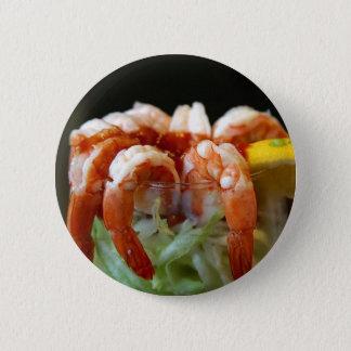 Shrimp Cocktail Lemons Lettuce Seafood 2 Inch Round Button