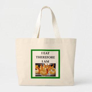 shrimp large tote bag