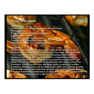 Shrimp on the Barbie Recipe Card