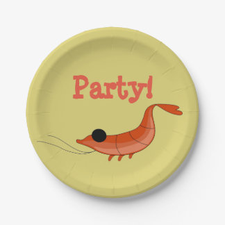 Shrimp party paper plates