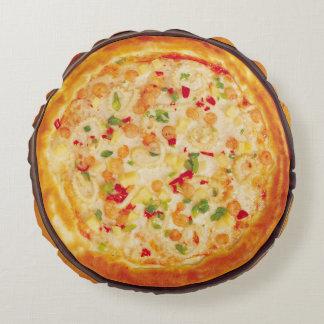 Shrimp Pizza Round Pillow