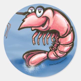 Shrimp Round Sticker