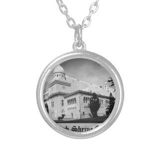 shrineauditorium silver plated necklace