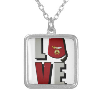 shrinelove silver plated necklace