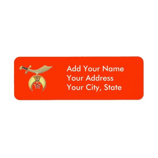 Shriners Avery Label packs