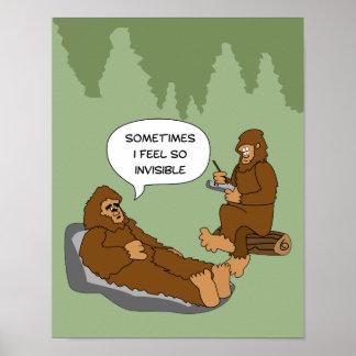 Shrink s Office Funny Sasquatch Cartoon Custom Posters