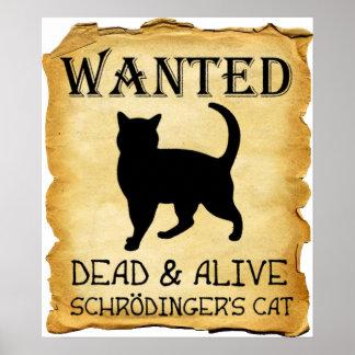 Shrodinger's Cat Funny Poster