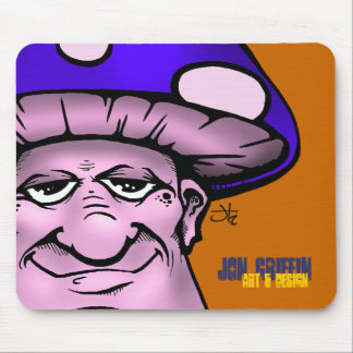 Shroomie2-blu, Jon Griffin, Art & Design Mouse Pad