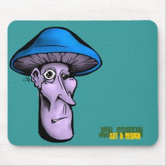 Shroomie-blu, Jon Griffin, Art & Design Mouse Pad