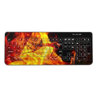 Shroud of Fire Wireless Keyboard