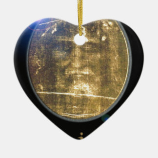 Shroud of Turin Designs on products Ceramic Heart Ornament