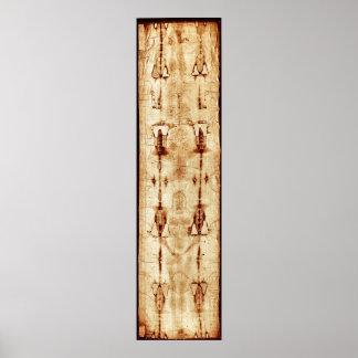 Shroud of Turin, ENHANCED, full image Jesus Christ Poster