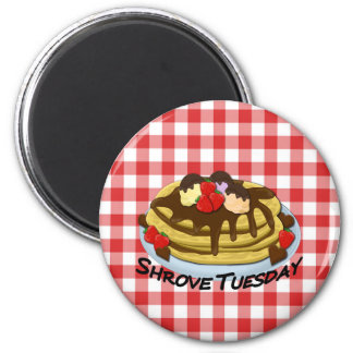 Shrove Tuesday - pancakes 2 Inch Round Magnet