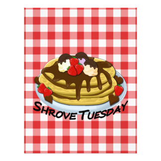 Shrove Tuesday - pancakes Custom Letterhead