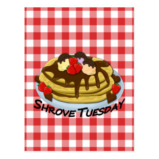 Shrove Tuesday - pancakes Postcard