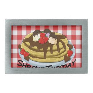Shrove Tuesday - pancakes Rectangular Belt Buckles