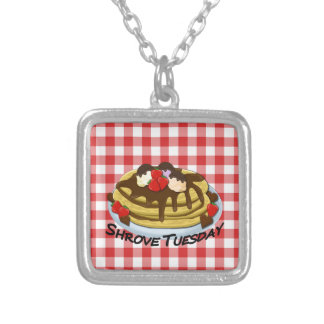 Shrove Tuesday - pancakes Silver Plated Necklace