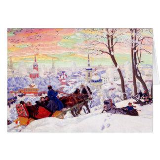 """Shrovetide"" by Boris Kustodiev. Fine Art Cards"
