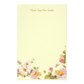 Shrub Roses Personalized Stationery