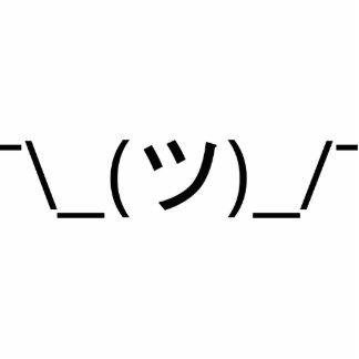Shrug Emoticon Japanese Kaomoji Photo Cutouts