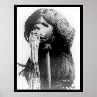 Shrunken Head in Ecuador 1894 Poster