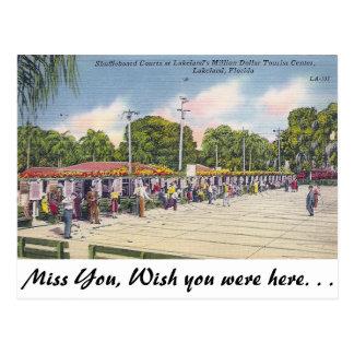 Shuffleboard, Lakeland, Florida Postcard