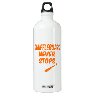 Shuffleboard Never Stops Water Bottle