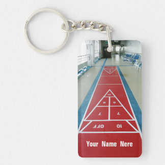Shuffleboard on Board  Custom Keychain