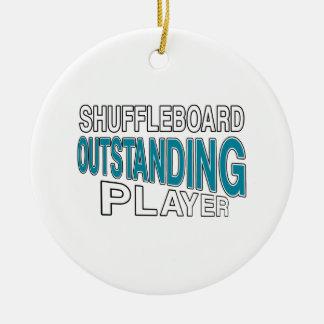 SHUFFLEBOARD OUTSTANDING PLAYER CERAMIC ORNAMENT