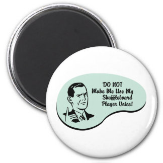 Shuffleboard Player Voice Magnet