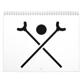 Shuffleboard Wall Calendars