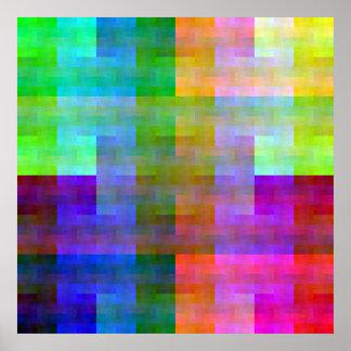 Shuffled Palette (flip) Poster