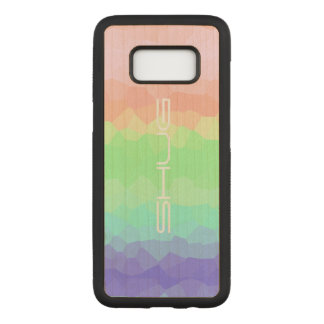 Shug Rock Candy Rainbow Light Colored Multicolored Carved Samsung Galaxy S8 Case