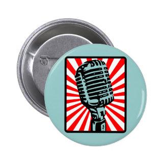 Shure 55S Vintage Microphone 2 Inch Round Button