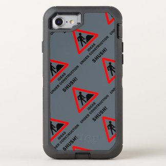 Shush! Ideas Under Construction Sign Humor OtterBox Defender iPhone 7 Case