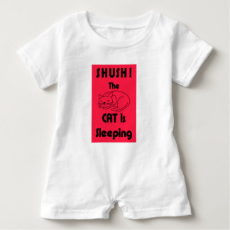 SHUSH! The Cat Is Sleeping Baby Romper