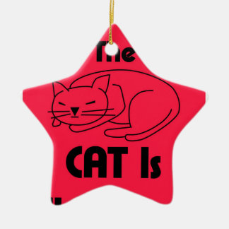 SHUSH! The Cat Is Sleeping Ceramic Ornament