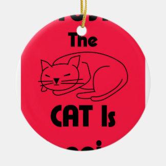 SHUSH! The Cat Is Sleeping Ceramic Ornament