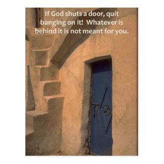 Shut Doors Postcard