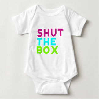 Shut The Box Logo Baby Bodysuit