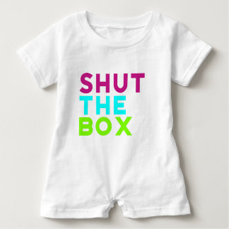 Shut The Box Logo Baby Romper
