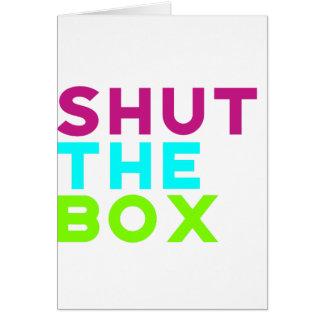 Shut The Box Logo Card